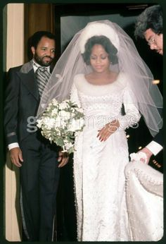 Motown founder Berry Gordy with his daughter Hazel on her wedding day. she married Jermaine Jackson by the way. Celebrity Wedding Photos, Vintage Wedding Photos, Wedding Dresses Photos, Vintage Bridal, Wedding Pics, Celebrity Weddings, Wedding Styles, Wedding Gowns, Vintage Weddings