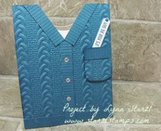 edd107ce1550a8 Sweater Card Dapper Denim Fancy Fold Cards