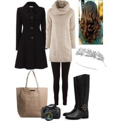 """""""Winter Market Outfit No.2 Christmas Tree Shopping"""" by natihasi on Polyvore"""