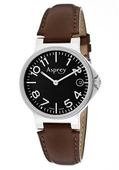 Men's Black Dial Quartz Watch With Date - Asprey of London Watch Cool Watches, Watches For Men, London Watch, Best Designer Brands, Good House, Watch Brands, Quartz Watch, Omega Watch, At Least