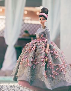 Elegance in Bloom OOAK Magia 2000 outfit on Silkstone Barbie Haute Doll excl #DollswithClothingAccessories