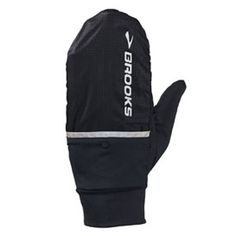 Brooks running gloves, super light shell tucks into a pocket to make them finger gloves. mp3 thumb pads that flip open. Love these.