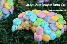 M Rice Krispie Easter Eggs