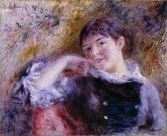 The Dreamer (1879) by Pierre Auguste Renoir (St Louis Art Museum, St Louis, MO)  - Impressionism