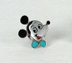Zuni Mickey Mouse  inlay pin