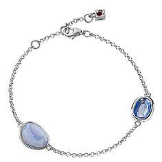 Elle Blue Agate and Blue Quartz Sterling Silver Bracelet (B0150) $95.00 #SkatellsGreenville #ELLE