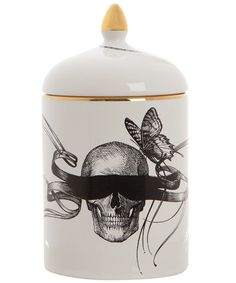 Masked Skull Scented Candle