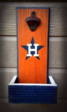 Hey, I found this really awesome Etsy listing at https://www.etsy.com/listing/185941273/houston-astros-bottle-opener-with-cap