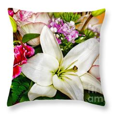 Birthday Wishes Throw Pillow by Flamingo Graphix John Ellis