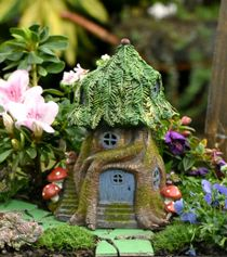 fantasy solar house fairy garden cottages pinterest christmas rh pinterest com Enchanted Fairy Cottages Outdoor Fairy Garden Ideas
