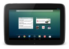 Nexus10. First 10 inch Nexus tablet built by Samsung. Eye-popping 2560x1600 Super PLS Display (300 PPI), latest Android 4.2 Jelly Bean, and ARM A15 Dual-Core processor, 2GB RAM and an affordable price to boot, it's gonna' eat in to some of Cupertino's bottom line.