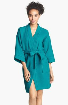 Women s Organic Cotton Silver and White Stripe Bath Robe - Overstock™  Shopping - Big Discounts on Bath Robes  ef500c10d