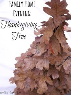 Thanksgiving Tree made with leaves! Thanksgiving Tree, Fresh Turkey, Family Home Evening, Super Mom, Activities For Kids, Lds, Holiday Ideas, Friday, Crafts