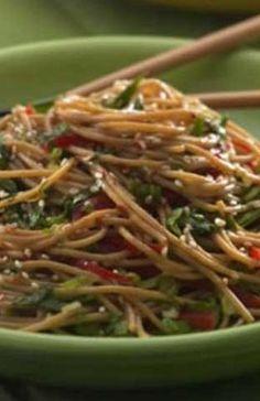 Healthy Sesame Noodles   Flavorite