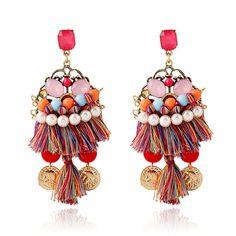 7874711c65fd Sublimes boucles d oreilles multicolores strass