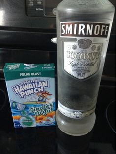 Skinny Island Breeze pour out 3oz. of  water in a 16oz water bottle replace it with the vodka and then add one packet of sugar free Hawaiian Punch Polar Blast SINGLE PACK. Shake & Enjoy!!!