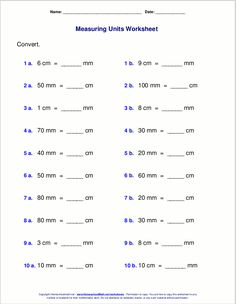 Metric Unit Conversion Length Worksheet Answers - Featuring integers with metric units of length like km m cm and mm each pdf worksheet is supplied with problems in three different formats along with . 7th Grade Math Worksheets, Measurement Worksheets, Measurement Conversions, Units Of Measurement, Worksheets For Kids, Metric Conversion, Printable Worksheets, Free Kindergarten Worksheets, Free Printable