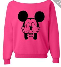 Pink mickey mouse sweater