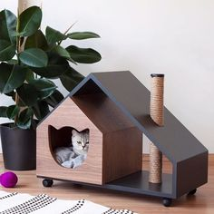 Human-Friendly Multifunctional Furniture for you and your Cats and Dogs - Un mob. - Human-Friendly Multifunctional Furniture for you and your Cats and Dogs – Un mobilier multifoncti - Pet Furniture, Furniture For You, Cat Playground, Cat Room, Cat Tree, Animal House, Dog Houses, Animal Design, Pet Shop
