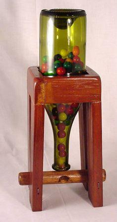 Hand Made BubbleGum Machine Wooden Pallet Projects, Woodworking Projects Diy, Wooden Pallets, Wooden Diy, Candy Store Design, Small Space Interior Design, Auction Projects, Gumball Machine, Wood Gifts