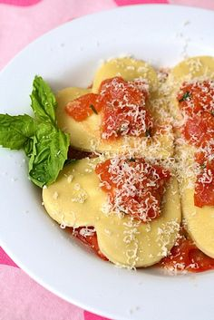 Heart Shaped Four Cheese Ravioli for Valentines Day