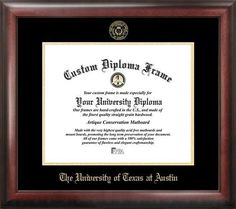 University of Texas Longhorns Home Office Diploma Picture Frame