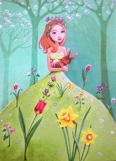 Happy Spring❤️Love and Hugs, Annie x o (Artist Mila Marquis)