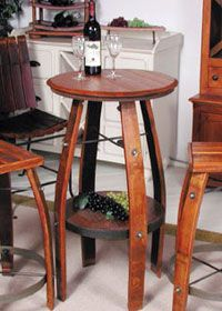 Bistro Tables and Chairs Wine Barrel Garden, Wine Barrel Crafts, Whiskey Barrel Table, Wine Barrels, Wine Cellar, Wine Crate Table, Lodge Furniture, Wine Barrel Furniture, Ideas Geniales
