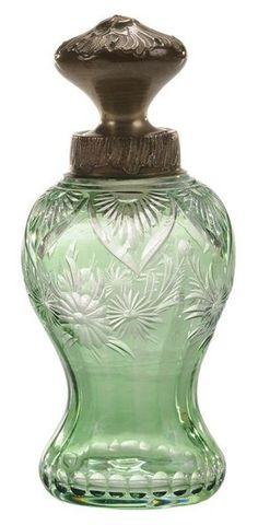 """D fabriqués à la main /""""Astra/"""" Murano Art Verre Vert Décoratif Fleur Ovale Vase 8/"""""""
