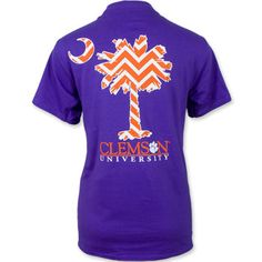 Clemson Tigers Chevron Palmetto T-Shirt - Purple #clemson