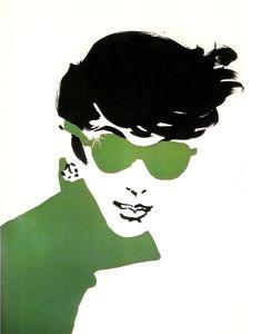 René Gruau - Cover illustration for International Textiles, 1956