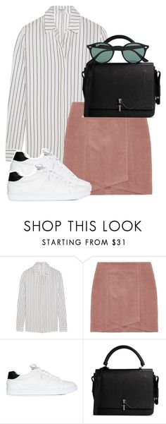 """Untitled #1770"" by itsmeischoice on Polyvore featuring Frame Denim, Nly Shoes, Carven, Ray-Ban, women's clothing, women, female, woman, misses and juniors"