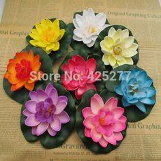 24 9.9 cm Multicolor opcional EVA material de lótus lótus simulação flores flores de água decorativa 004018010(China (Mainland))