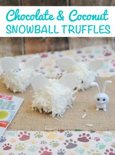 Chocolate & Coconut Snowball Truffles Recipe: #TheSecretLifeofPets Snowball Treat - Coconut & chocolate truffles are the perfect snack to enjoy while watching The Secret Life of Pets at home with the family! #Sponsored
