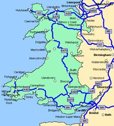 Wales is NOT in England people pls learn this Wales Map, Welsh Castles, Pembrokeshire Wales, Road Trip Map, England And Scotland, Ireland Travel, British Isles, Prince, Great Britain