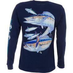 Guy Harvey Men's Wahoo Long Sleeve T-shirt