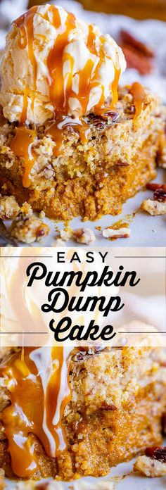 Hypoallergenic Pet Dog Food Items Diet Program Easy Pumpkin Dump Cake From The Food Charlatan. It Really Doesn't Get Any Easy Or Tastier Than This Pumpkin Dump Cake Mix Up A Can Of Pumpkin Pie Mix With A Few Simple Ingredients, Then Dump A Dry Yellow Cake Easy Pumpkin Pie, Pumpkin Dessert, Pumpkin Recipes, Pumpkin Cakes, Köstliche Desserts, Delicious Desserts, Dessert Recipes, Dump Cake Recipes, Baking Recipes