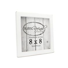 """4x4 square Moab wood picture frame 1.5/"""" boarder for wall or table Natural Wood"""