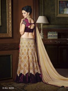 Touch Trends Gold Embroidered Lehenga
