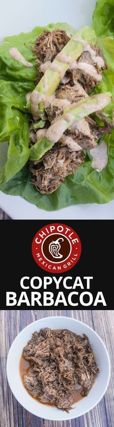 The only Chipotle Barbacoa.- The only Chipotle Barbacoa recipe you'll ever need! Instant Pot Pressure Cooker, Pressure Cooker Recipes, Slow Cooker, Pressure Cooking, Mexican Food Recipes, Beef Recipes, Ethnic Recipes, Donut Recipes, Restaurant Recipes