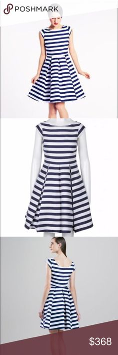 HP Kate Spade Mariella Flare Dress Silk Blue SZ 14 Kate Spade New York Mariella Flare Dress French Blue & White Size 14 USA Cotton & Silk Blend Condition: New with Tags MSRP $488. 🎀HP 10/17🎀 kate spade Dresses
