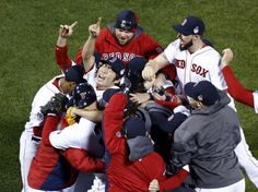 CrowdCam Hot Shot: Boston Red Sox relief pitcher Koji Uehara reacts with teammates after defeating the St. Louis Cardinals in game six of the MLB baseball World Series at Fenway Park. Red Sox won Photo by Mark L. 2013 World Series, North Liberty, New Carlisle, Three Oaks, Sports Update, Home Sport, Basketball Uniforms, Basketball Court, Usa Today Sports