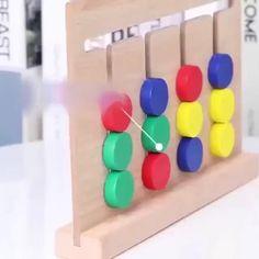 Games For Kids, Diy For Kids, Activities For Kids, Diy Sensory Board, Diy And Crafts, Crafts For Kids, Cork Crafts, Wooden Crafts, Color Games