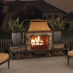 Provide a stylish and trendy appeal to your patio or deck with the addition of this excellent Sunjoy Bel Aire Wood Burning Outdoor Fireplace.