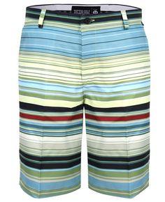 f5274e7b28db Retro Stripe ProCool Golf Shorts (Green Black) - Price Slashed! Crazy Golf