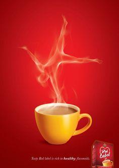 :) Brooke Bond Tea – Willkommen in meiner Welt Ads Creative, Creative Advertising, Advertising Design, Home Design, Ad Design, Graphic Design, Coffee Cup Art, Coffee Poster, Coffee Advertising