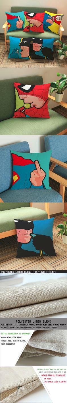 luxury home decoration outdoor Car sofa chair seat cushion cushions pillow US drama Spiderman Superman 45*45cm pattern printing $6.55