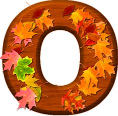 Presentation Alphabets: Cherry Wood Leaves Letter O Fall Fest, Alphabet And Numbers, Alphabet Letters, Wood Letters, Flower Patterns, Autumn Leaves, Crafts For Kids, Presentation, Clip Art