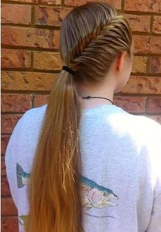 Fishtail French Braids with Ponytail for Long Hair