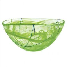 Kosta Boda Contrast Large Lime Bowl - 7050514